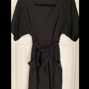 Rolla Coster black dress with pockets and tie